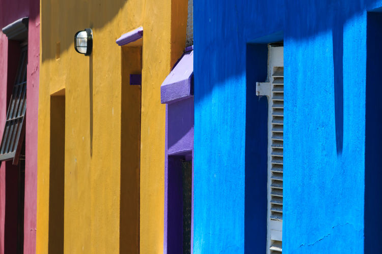 Cape Town Architecture Blue Bo-kaap Building Exterior Built Structure Close-up Colorful Day Multi Colored No People Outdoors Yellow