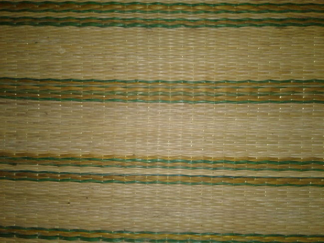 Natural mats, thai people, background Striped Backgrounds Wood - Material Full Frame Textured  Pattern Green Color