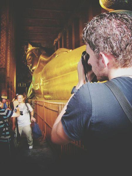Spotted In Thailand Taking Photos Buddha Statue Reclining Buddha Bangkok Photographer Tourists Farang Shooting Strangers Shooting Photos