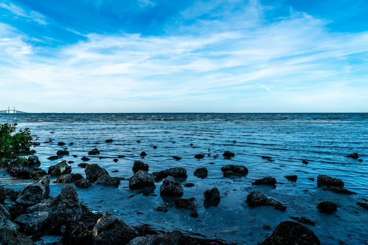 The magnificent beauty of Terra Ceia Aquatic Preserve in west central Florida. Wildlife Bird Boating Scenics Sky Clouds Breakwall Coastline Sunshine Blue Sky Landscape Outdoors Fishing Kayaking No People Tampa Bay Saint Petersburg Florida Rocks Tranquil Scene Tranquility Nature Beauty In Nature Scenics - Nature Water