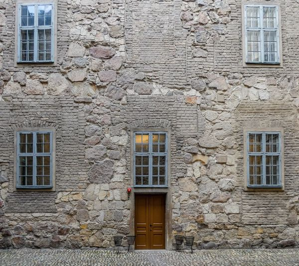 Slot Örebro Built Structure Architecture Building Exterior Window Building No People Wall - Building Feature Old Residential District Wall Door Closed House Brick Wall Entrance