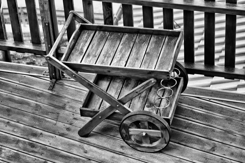 Sceneries of an old village in the mountains... Carrier Day Empty No People Outdoors Platform Trolley Wood - Material Wooden Blackandwhite Black And White Black & White Blackandwhite Photography Black And White Photography Black&white