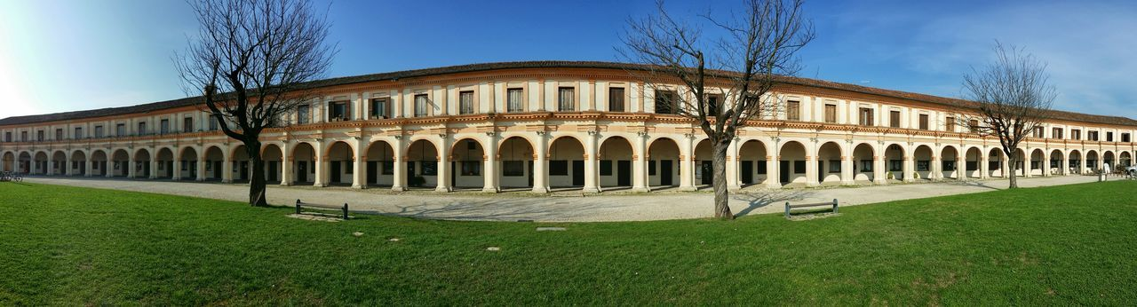 Badoere Treviso Italy Travel Photography Travel Traveling Architecture Hemicycles Monumental Arcades Bare Trees Mobile Photography Art Fineart Panoramic Views 180° Shadows Mobile Editing Learn & Shoot: Balancing Elements