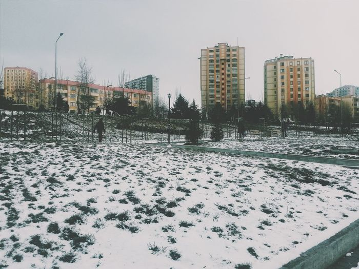Snow Walking Around Building Jogging Vscocam Check This Out Hello World How's The Weather Today? Winter Weather
