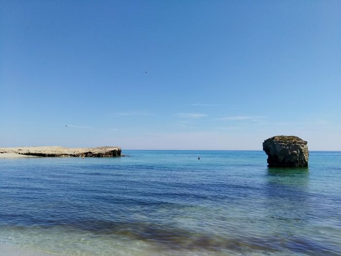 Sea Beach Horizon Over Water Water Nature Tranquility Tranquil Scene Travel Destinations Scenics Blue Sky Outdoors Vacations Day No People Beauty In Nature Clear Sky Sea Life Vacations Melendugno Landscape Wave Lecce Salento Puglia Beauty In Nature