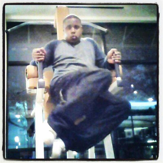 Lower abs workout look at the face i was makin lol serious