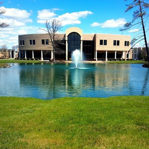 Yeah, my school tends to look really nice. Hilbert Pond Fountain Saturated fountain WarmWeather