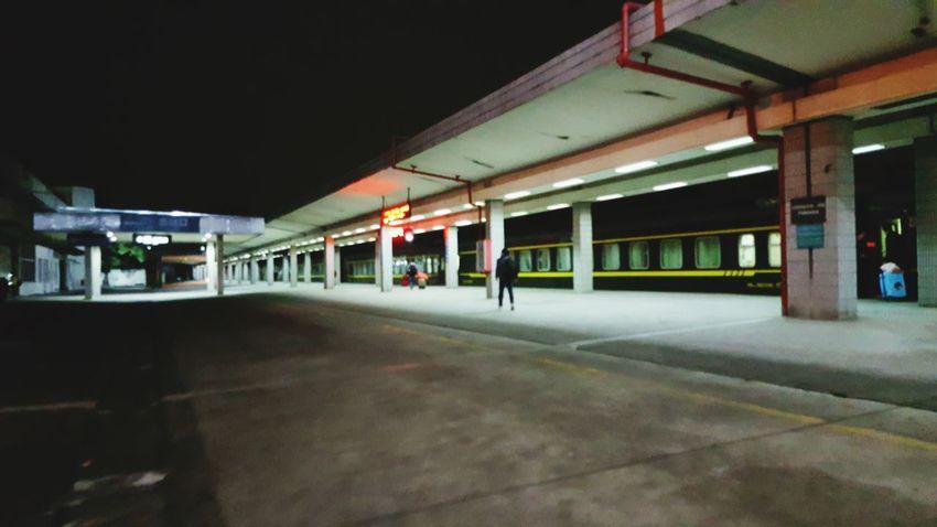 去你的城市 Built Structure Illuminated Architecture Night Transportation No People Gas Station Outdoors
