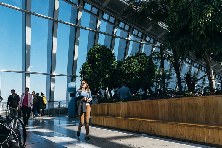 The Sky Garden viewpoint at 20 Fenchurch Street also known as Walkie Talkie. Designed by Rafael Vinoly Architects, It features garden and restaurants 20 Fenchurch Street London Uk Architecture Bank British Building Business Capital City Cityscape District Downtown England Europe European  Famous Fenchurch Finance Financial Garden Gherkin Gherkin Building Iconic KINGDOM Landmark Modern Office Offices Sky Sky Garden Sky Garden London Skyline Skyscraper Street Sunny Tourism Tower Travel Urban Viewpoint Vinoly Walkie Talkie Real People