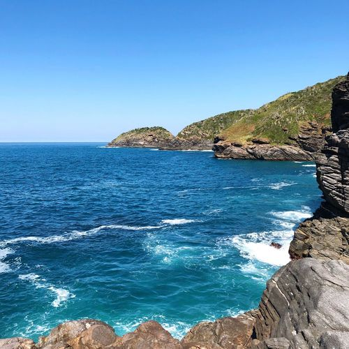 Búzios Water Sea Sky Blue Beauty In Nature Scenics - Nature Clear Sky Tranquility Day Horizon Over Water