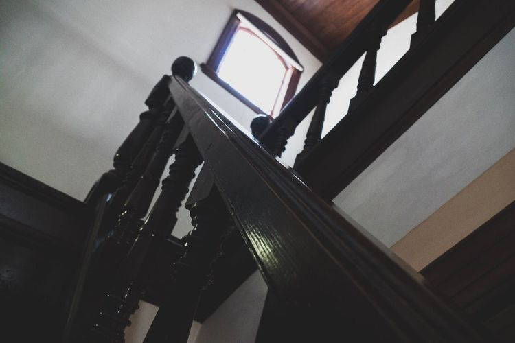 Low Angle View Architecture Built Structure Staircase Steps And Staircases No People Steps Building Exterior Indoors  Day Sky Japan Antique