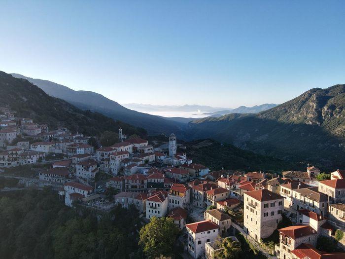 Dimitsana village in greece