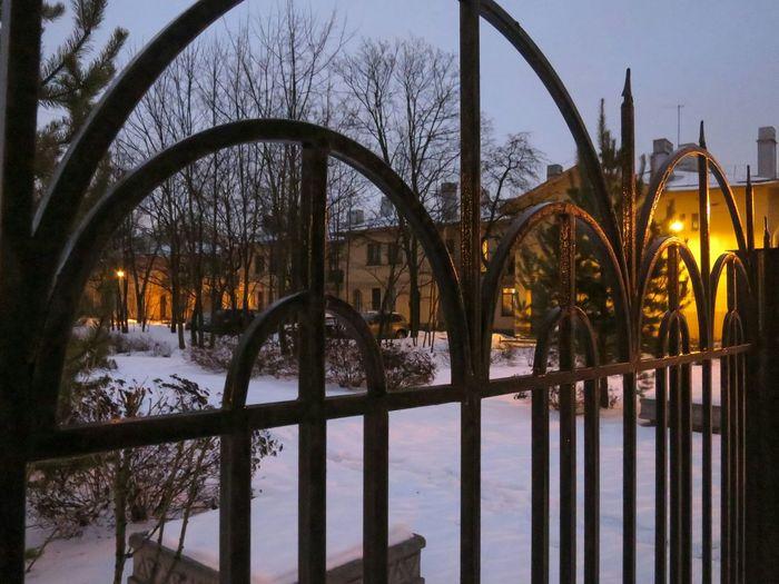 Architecture Evening Gate Buildings