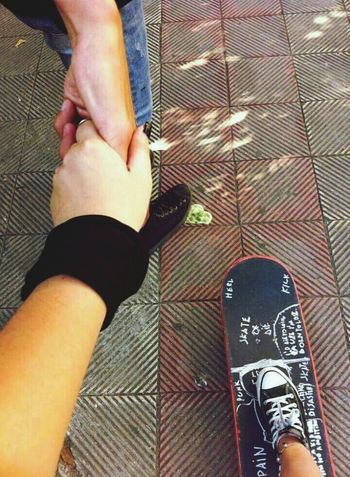 I Love Skate more than Boys ❤ Black Nails Hands Bracalet Enjoying Life Happiness Ring