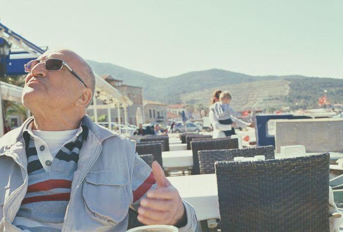 RePicture Giving Grandpa Grandfather Dedem Turkey Izmir Yenifoca Analog Analogue Photography Analogue