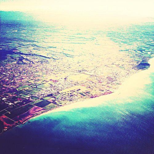 Sky view over a Italian beach, last week. Skyview Blue  Beach Lovely ✈️