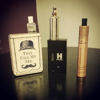All set up for the day..... Vape Whitemistvapours Boxmod