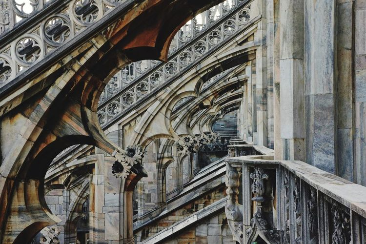 Architectural Detail Of Milan Cathedral