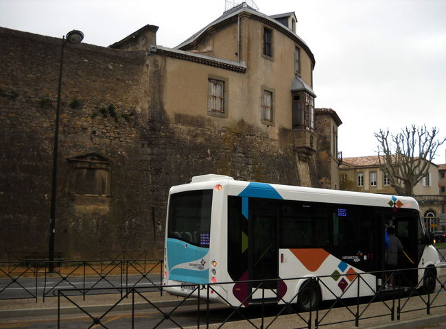 2012 Architecture Building Exterior Built Structure Carcassone City Bus City Life Exterior France Mode Of Transport Multi Colored No People Outdoors Transportation
