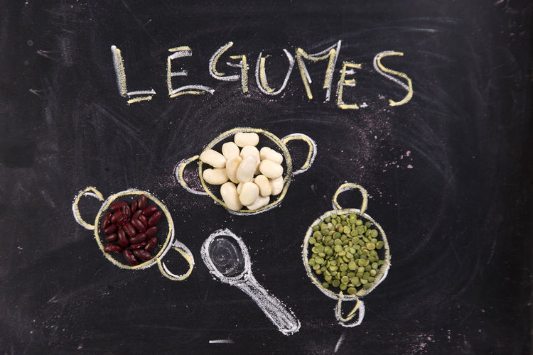 High Angle View Of Legumes