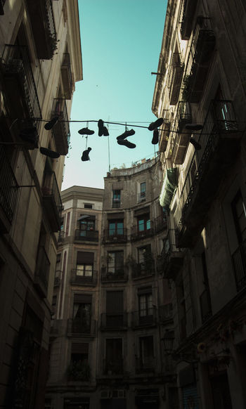 Barcelona Barcelona Life Modern Shoes ♥ Streets Architecture Barna Building Exterior Built Structure Day El Born Low Angle View No People Outdoors Sky