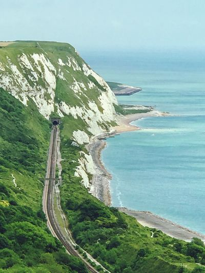 View if the white cliffs and english channel