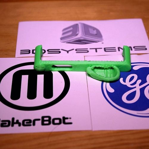 Got my free 3D printed gift from @generalelectric today. Thanks again, it's cool! (I also like the stickers) Ge 3DPrintMyGift 3Dprinter 3D printer spotify neon MakerBot 3DSystems stickers