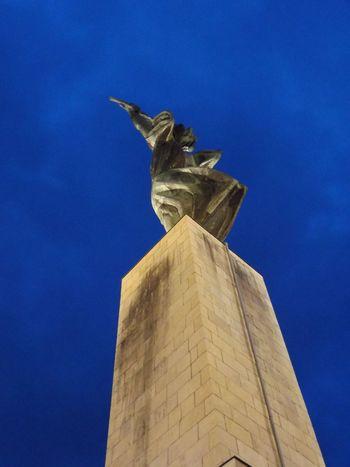 Sky Blue Sky Nightphotography Statue Traveling Stone Fly To The Sky