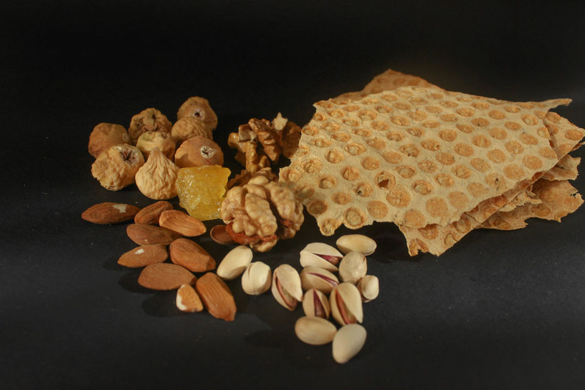 Nuts Black Background Bread Candy Close-up Fig Food Food And Drink Indoors  No People Pistachio