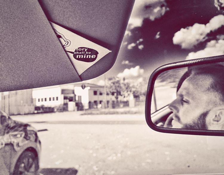 Self Portrait Around The World In The Car Victory Be Mine EyeEm Best Shots - Black + White Monochrome Selfie ✌ Glitch RePicture Masculinity Faces In Places Perfect Match B&w Street Photography MeinAutomoment Mein Automoment Meinautomoment