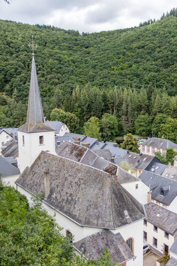 Architecture Church Day Historic Luxembourg Mountainous Nature Outdoors Town