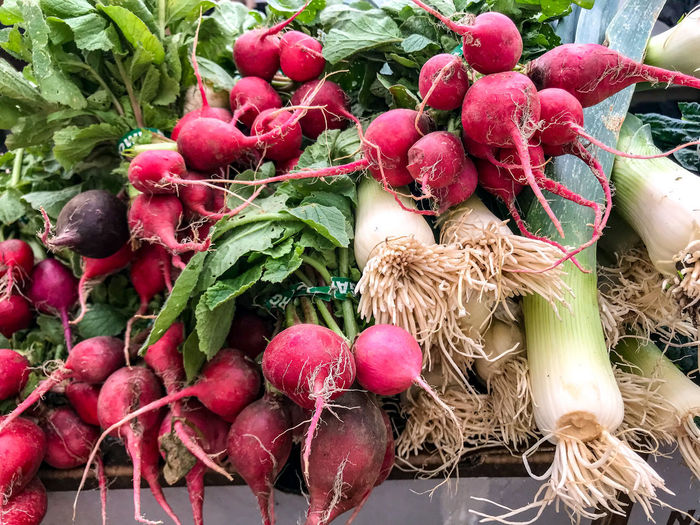 Farmers Market Fresh Produce Nature Close-up Day Food Food And Drink For Sale Freshness Fruit Green Color Green Onions Healthy Eating Nature No People Organic Outdoors Plant Plant Part Radish Red Ripe Root Vegetable Still Life Vegetable
