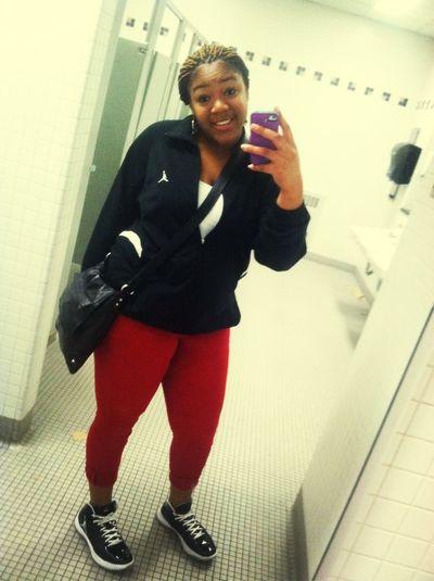 #Jordans #red #black #white