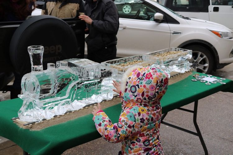 Car Mode Of Transport Land Vehicle Transportation Outdoors Real People Day Ice Sculpture Winter Festival j
