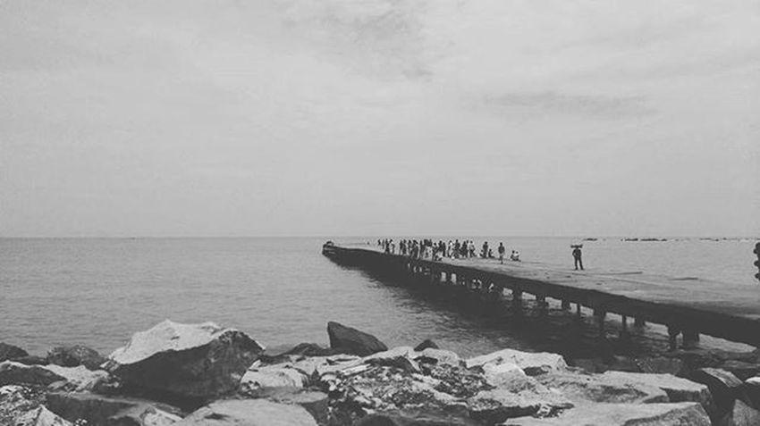 Capturing the moment Sea Bridge Thalassery Blacknwhite