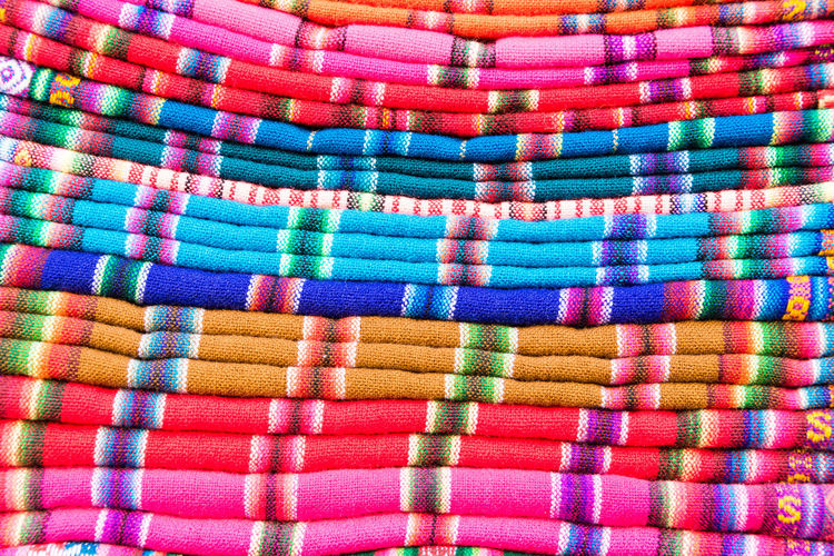Heap of colorful scarves for sale