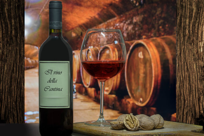 Wine and walnuts Alcohol Barrel Bottle Close-up Day Drink Drinking Glass Food And Drink Freshness Indoors  No People Red Wine Refreshment Wine Wine Bottle Wine Cask Wine Cellar Wineglass Winemaking Winery Winetasting Wood - Material