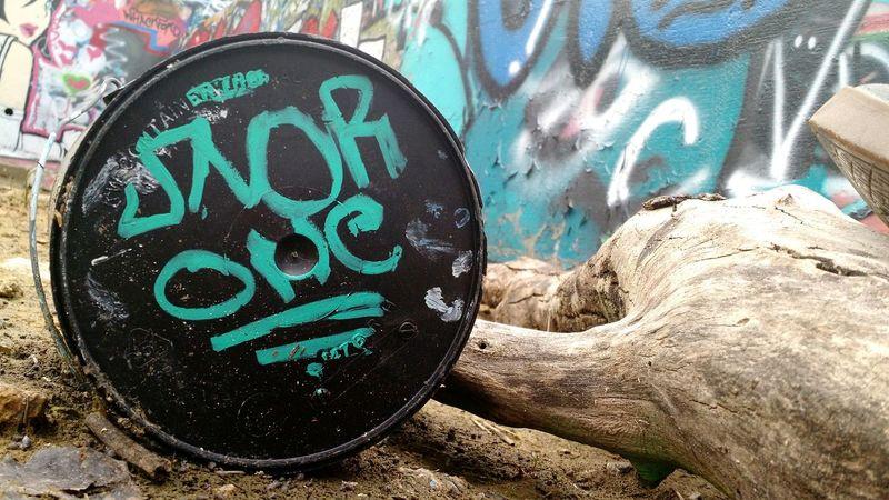 Graffiti Art Paint Bucket Bucket Paint Art Close Up Street Photography