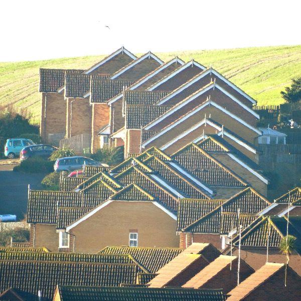 Pretty ugly. House Houses Housing Roof Eves Weather Bording Tiles Urban Pattern Urban Patterns England Bricks Brickhouses Estate Housing Estate High Density Housing