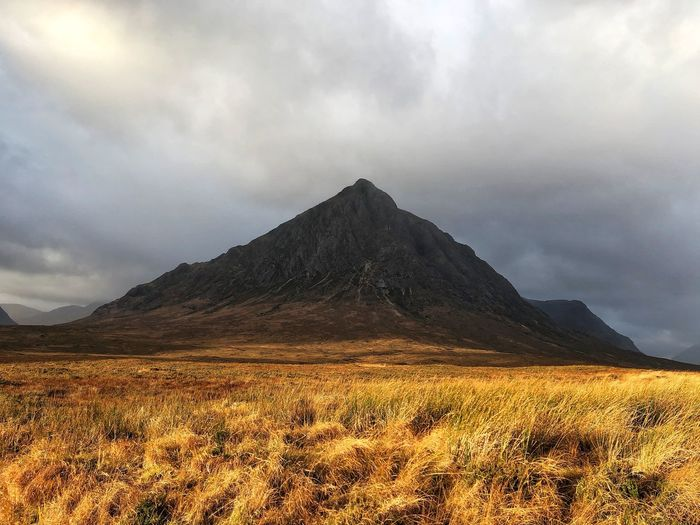 Glencoe Scotland Scottish Beauty In Nature Buachaille Etive Mor Cloud - Sky Day Grass Highlands Highlands Of Scotland Landscape Mountain Nature No People Outdoors Scenery Scenics Sky Tourism Tranquil Scene Tranquility Travel Destinations
