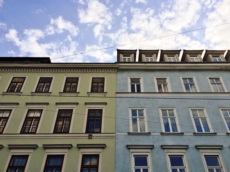 Colors Building House Blue Sky Green Blue TakeoverContrast