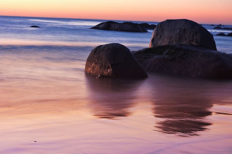 Paternoster beach, South Africa Check This Out Hanging Out Taking Photos Enjoying Life Beach Slowshutter South Africa Sunset_collection Water Ocean Like Likeforlike Boulder Nikon