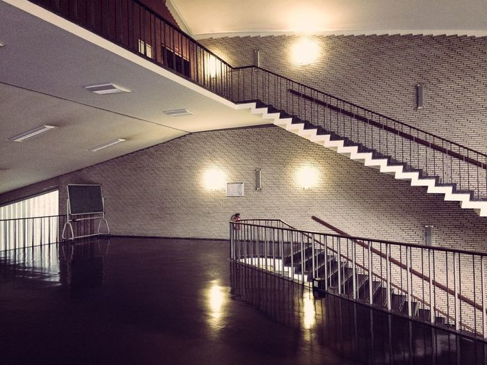 Illuminated Architecture Indoors  Built Structure Staircase Flooring Ceiling No People Steps And Staircases Light Empty My Best Photo The Mobile Photographer - 2019 EyeEm Awards