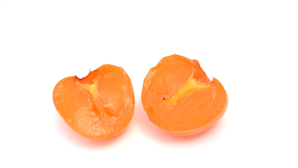 persimmon Close-up Food Food And Drink Freshness Fruit Healthy Eating Japan No People Persimmon Studio Shot White Background