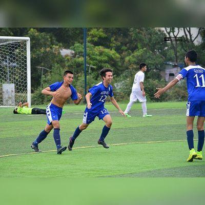 Goal celebration @manucruel @jarveygayoso @cristiano 🎆⚽ . . . UAAP Uaap77 Uaapseason77 ADMUvsUST juniors AdMU UST sbspotlight soccerbible football themanansala