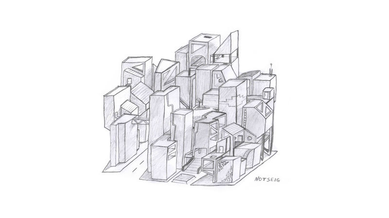 Badie Notseig Sketch Architecture Creativity Draw Drawing Minimal Office Paper Paper Clip Pierre White White Background
