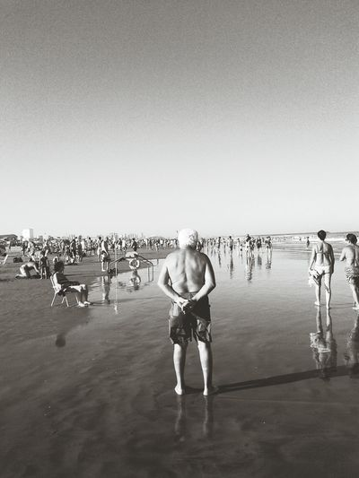 Beach Life Is A Beach Looking To The Other Side Enjoying Life Everyday Joy Monochrome Black & White RePicture Ageing Snapshots Of Life by me