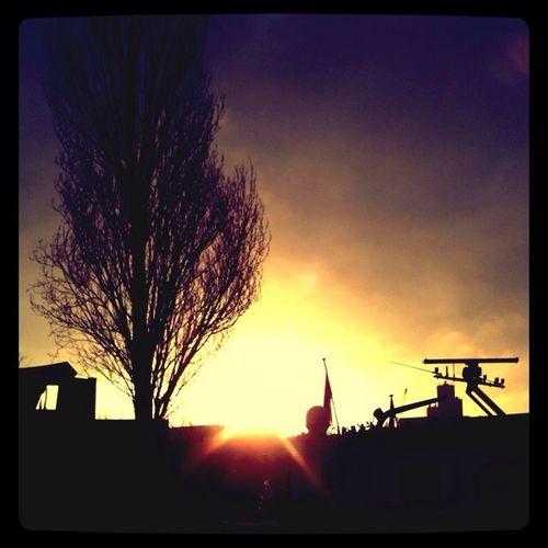 Sunset Nature Beautiful Burning Skies