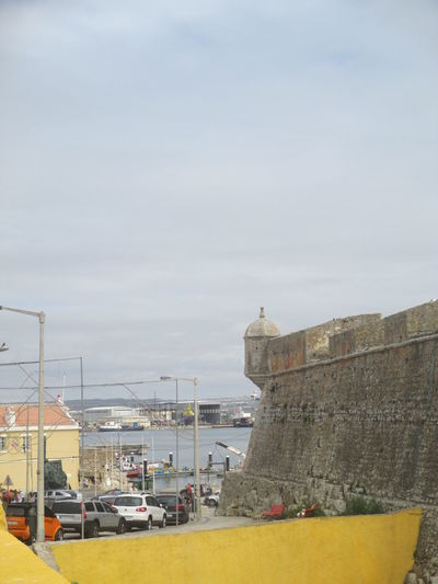 Greetings From Portugal Architecture Atlantic Ocean Building Exterior Built Structure Calm And Force Cloudy Day Day Former Prison Fortress Fortress Beside The Sea Fortress Wall History Nature No People Outdoors Peniche Fortress Peniche Portugal Seaside Sky Small Portuguese Town Stability Vitality Beauty Stone Strenght Transportation