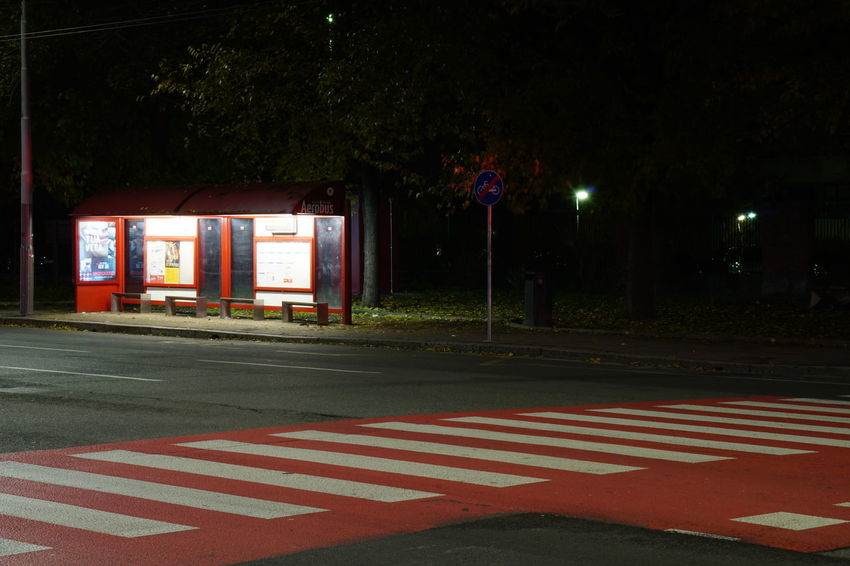 Bologna Illuminated Lonliest Place Lonliness Night No People Outdoors Red Transportation
